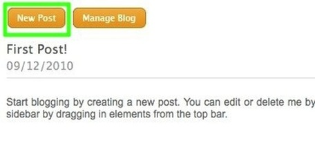 how to add a new blog post to weebly